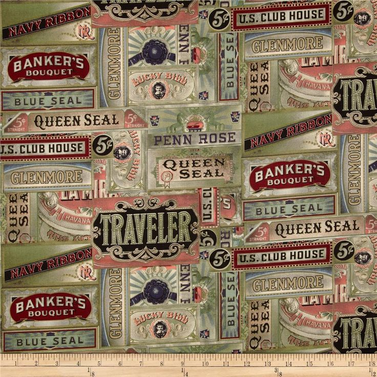 Tim Holtz Eclectic Elements Cigarbox Multi from @fabricdotcom  Designed Tim Holtz for Westminster Fabrics, this cotton print fabric is perfect for quilting, apparel and home décor accents. Colors include muted coral, olive, pewter, cranberry, black, and cream.