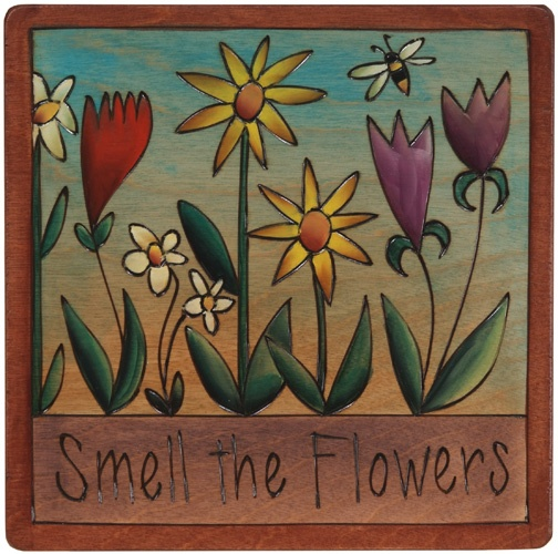 Sticks Plaque Small by Sarah Grant  Smell the Flowers