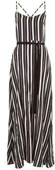 Pin for Later: 79 Robes Longues Super Confort Pour Cet Été  New Look Maxi robe noire rayée avec fente sur le devant (35€)