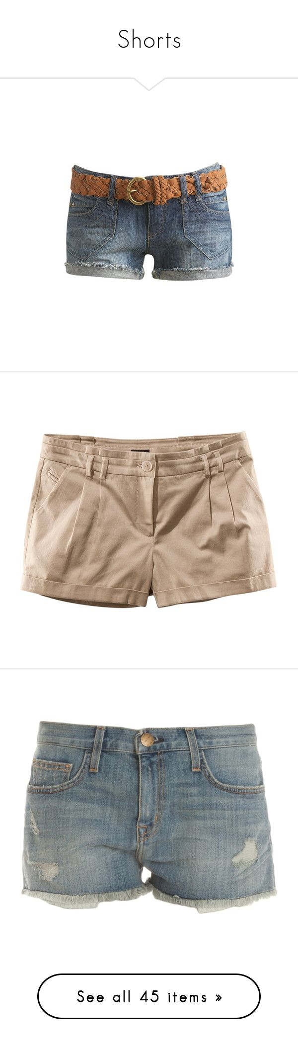 """""""Shorts"""" by chell-p ❤ liked on Polyvore featuring shorts, bottoms, pants, wet seal shorts, wet seal, short, women, short cotton shorts, short shorts and cotton shorts"""