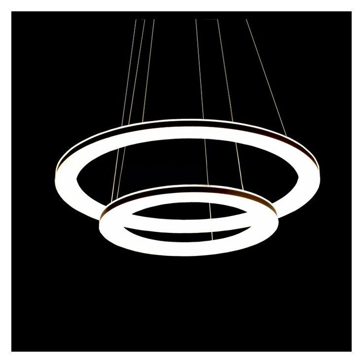 Kaufen EU LagerLed Pendelleuchte Aus 2 Polyester Ring Im Wohnzimmer Schlafzimmer Mit Gnstigste