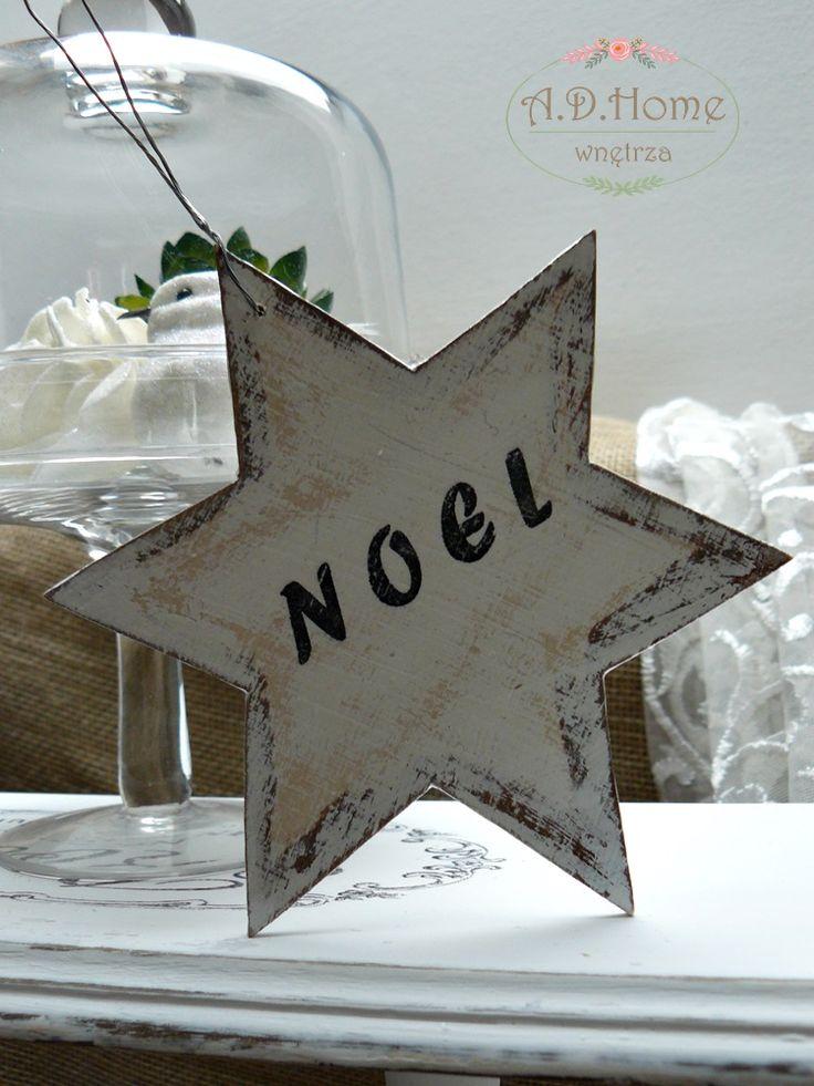 gwiazda drewniana, Noel, merry christmas, dekoracja świąteczna hand made, pracownia A.D. Home