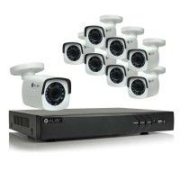 Alibi 8-Camera 2.1 Megapixel 65' IR HD-TVI Hybrid+ Outdoor Security Camera System