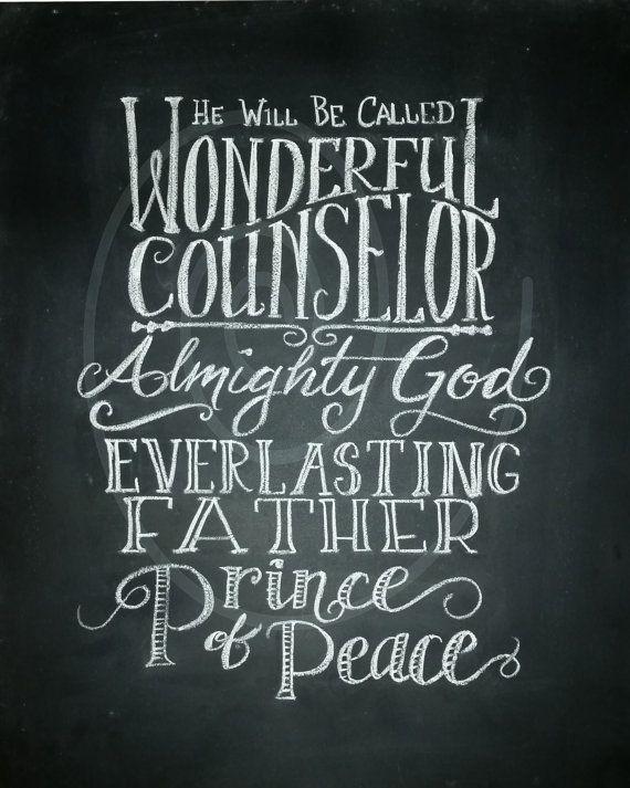 Christmas Printables! Wonderful Counselor.. printable Christmas by NoleyAndLena on Etsy