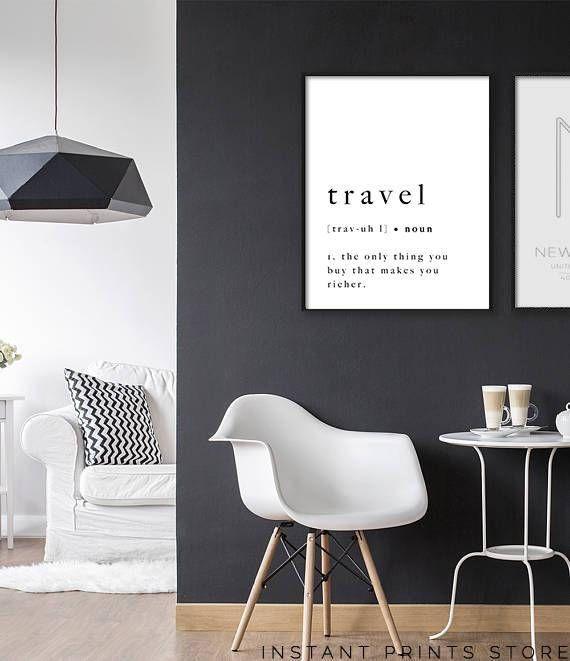 au879 printable art travel print quote poster art printable definition typography artwork holiday black white