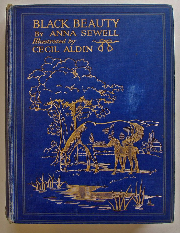 Beautifully Illustrated Book Covers ~ Black beauty anna sewell c and illustrated by cecil