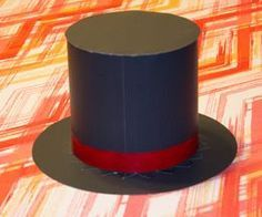 For Blue & Gold centerpieces: How to Make a Magician Hat Out of Paper