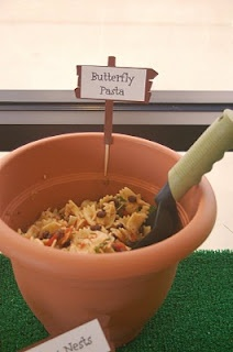 Food: Butterfly Pasta - like the serving dish