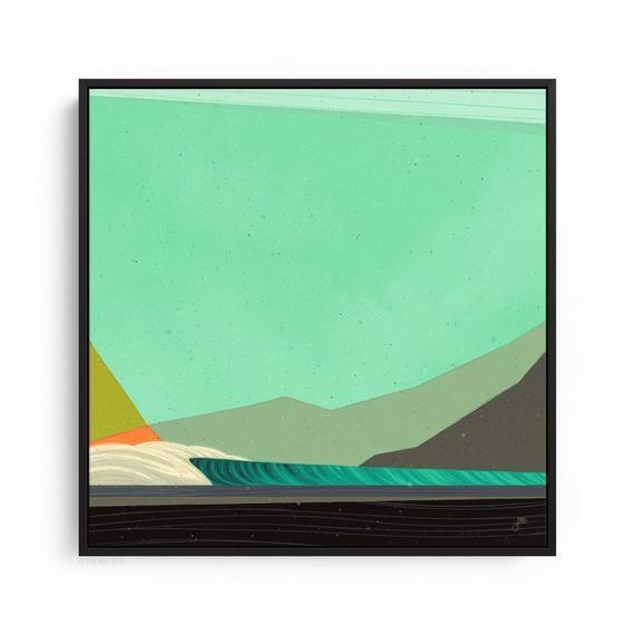 Abstract Surf Art Canvas Print Modern Ocean Art Contemporary Etsy Surf Art Canvas Art Prints Surf Art Print