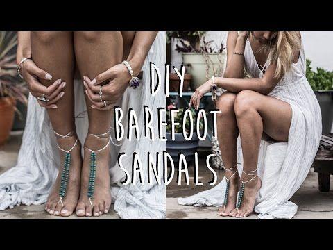 Crochet Tutorial: Tribal Barefoot Sandals - YouTube