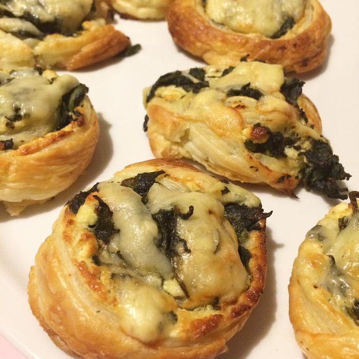 Feta-Spinat-Blätterteig-Schnecken blitzschnell zubereitet #KathieKreativ