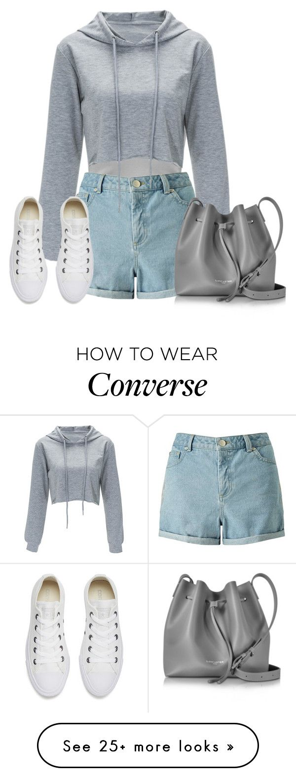 """Los Angeles"" by seventeene on Polyvore featuring Miss Selfridge, Lancaster and Converse"