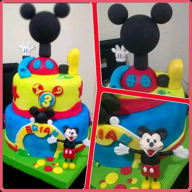 Torta de la casa de mickey mouse | Tortas decoradas para cualquier ...
