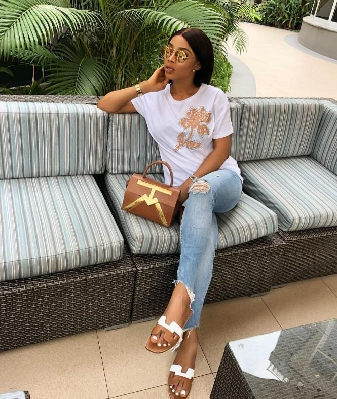 Style Guide: Toke Makinwa's approved way of wearing Hermes