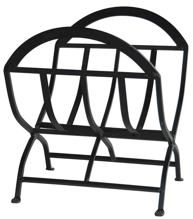 """Black Wrought Iron Log Rack - With its popular black wrought iron finish, beautiful craftsman motif and gracefully arched detailing, this UniFlame(R) log rack, by Blue Rhino, is a compliment to any decor. Timeless in design, this log rack is an attractive way to store firewood. Black wrought iron finish Sturdy steel construction Folding design Large capacity Material: Wrought Iron Finish: Black Rated: Interior Item Dimensions: 12 L x - W x 6"""" H Package Dimensions: 24 L x 7 W x 14 H. At Home…"""