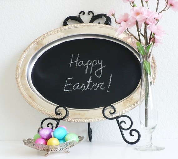 Easter..have small, nicely framed chalkboard to honor the holidays. Add some simple decorations (ex: flowers and mini eggs) and there ya go!