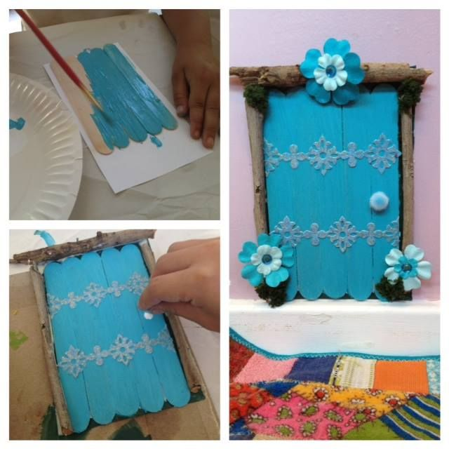 Lolly stick fairy doors from the inspired child for Make fairy door craft