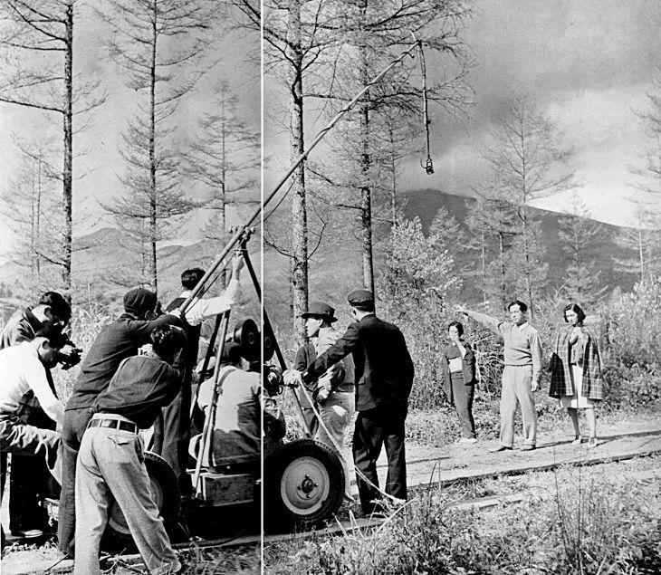 setsuko hara 原 節子 on set   Hikaru to Kage (光と影) (1940)  directed by Yasujiro…