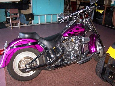 Purple Harley Davidson bikes | Purple Haze Harley Davidson Fatboy Motorcycle: It's In Your Brain ...