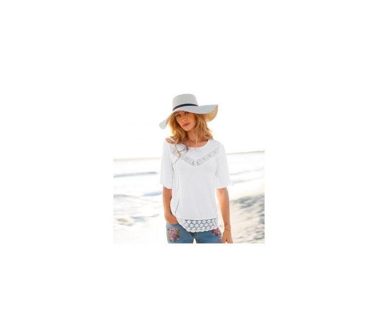 Macramé tričko s krátkými rukávy | blancheporte.cz #blancheporte #blancheporteCZ #blancheporte_cz #newcollection #jaro #leto #summer #spring