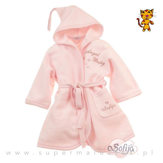 Różowy szlafroczek wykonany z bardzo miłego w dotyku materiału, który świetnie chłonie wilgoć. Dziecko po kąpieli lubi czućciepło i komfort, warto więc założyć mu taki ciepły szlafroczek. #supermaluszek #szlafrok #dziecko