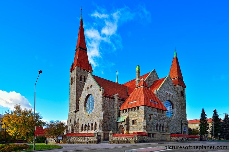 The medieval Tampere cathedral in Finland