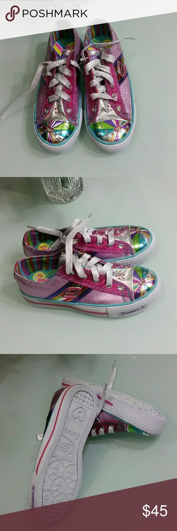 SKECHERS SPORTS light up Brand new.  Toes light up shoes . Multi colors,  very pretty . Perfect for girls. Skechers Shoes Sneakers