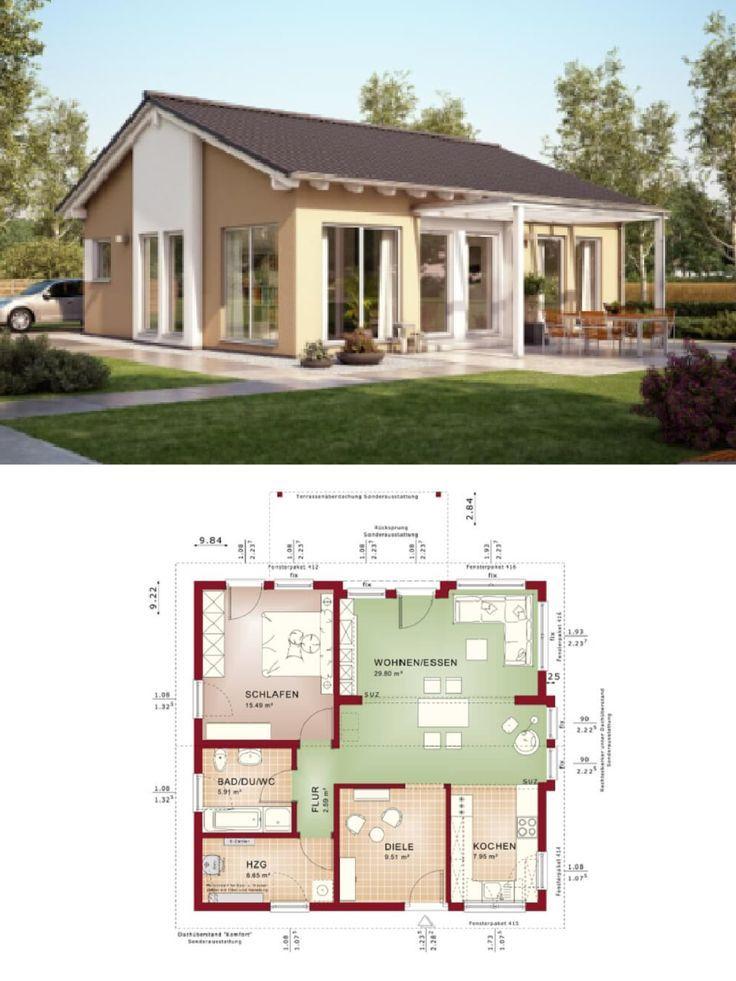 BungalowHaus mit SatteldachArchitektur Grundriss