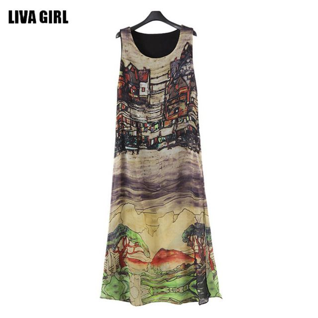 Daily Sale $6.21, Buy Popular Women Sleeveless Silk Chiffon Long Maxi Dress Summer Beach Sundress Fashion