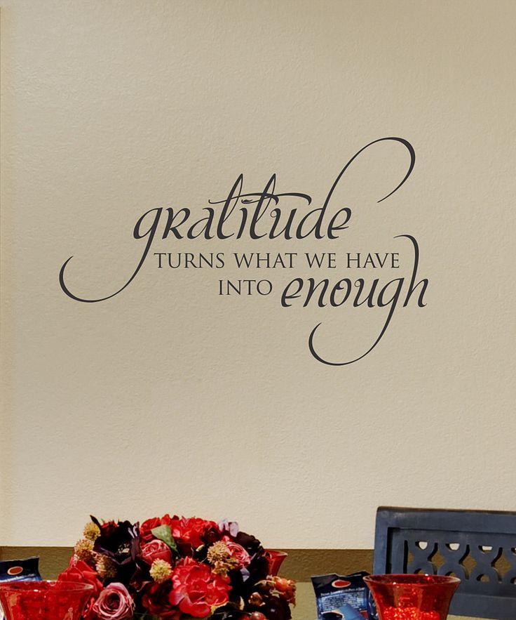 Black Gratitude Wall Quote Dining Room QuotesKitchen QuotesDining