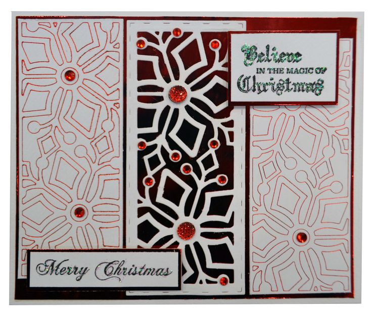 Red Foil Christmas Card