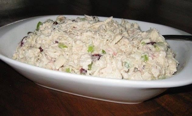 My husband loves this chicken salad, he's always asking me to make it. It's really good and refreshing, check it out. You'll Need: 3/4 pound(s) cooked skinless boneless chicken breast(s), cut into bite-sized pieces 1/2 cup(s) uncooked celery, finely diced 1/3 cup(s) unsweetened dill pickle(s),…