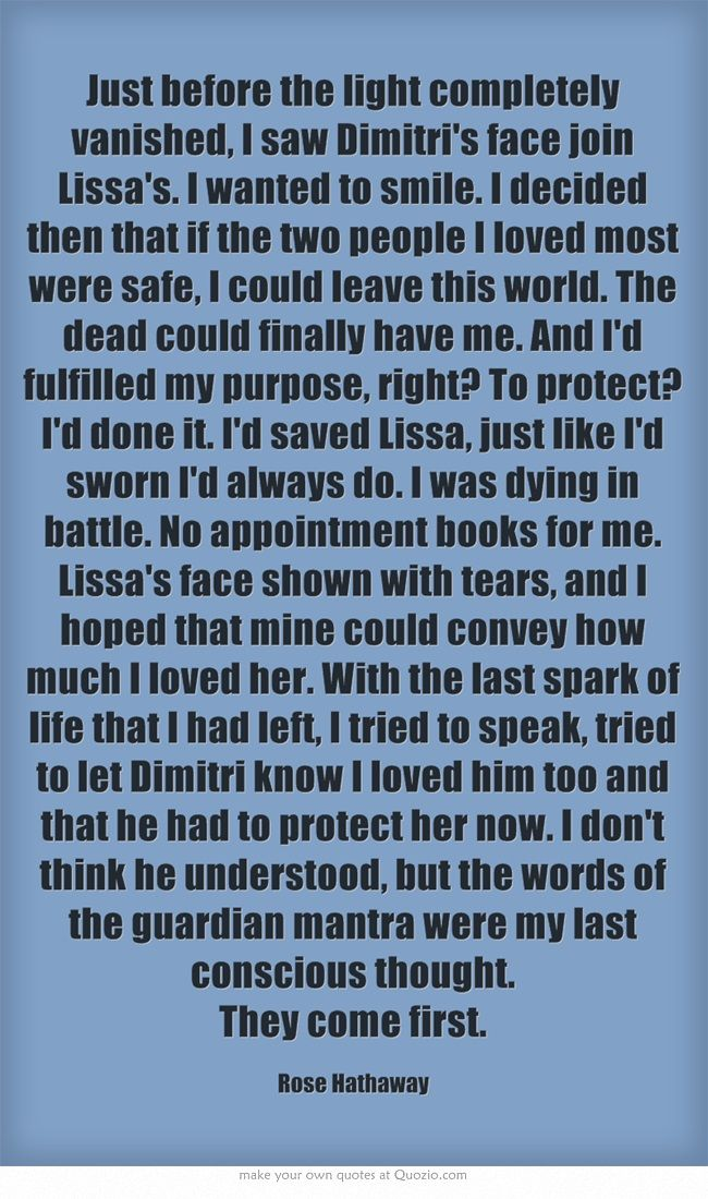 Vampire Academy Quotes   Rose Hathaway