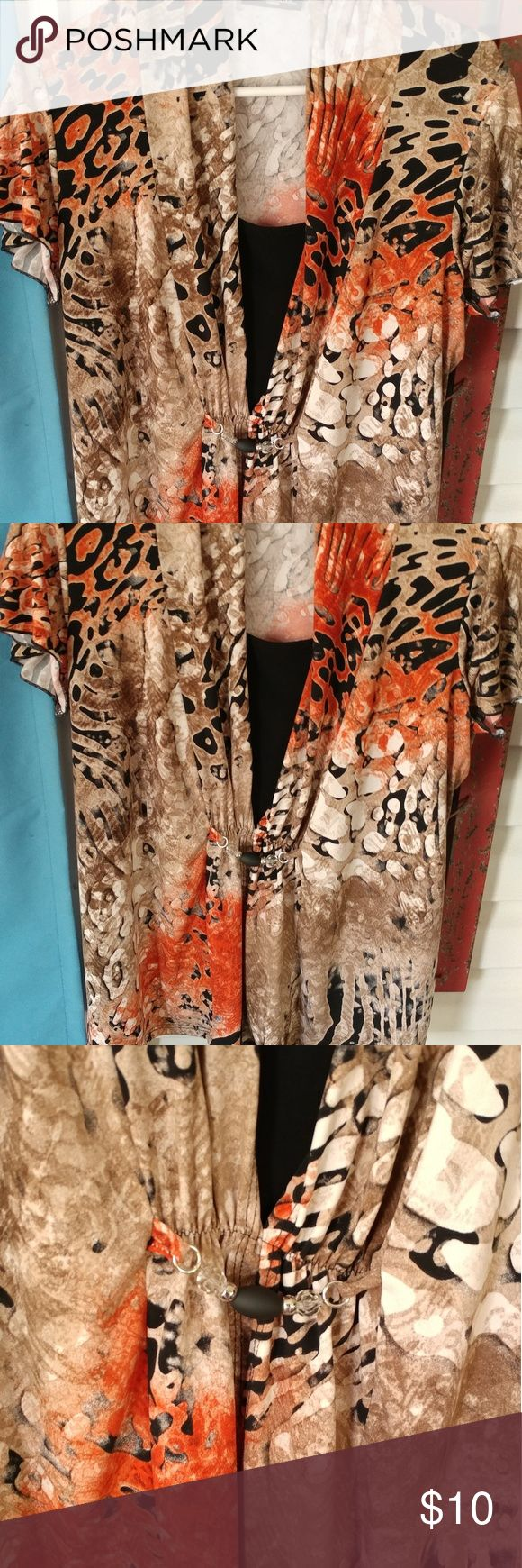 Plus size blouse Beautiful plus size blouse. Built in tank silk. Simply gorgeous! Dress up or down!! Tops Blouses