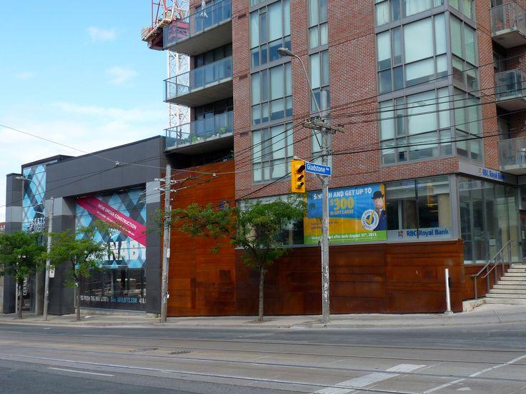 Location: 2 Gladstone Ave.  Toronto, ON, M6J 0B2  Product; CorTen Steel  Photographer: Ryan Brown