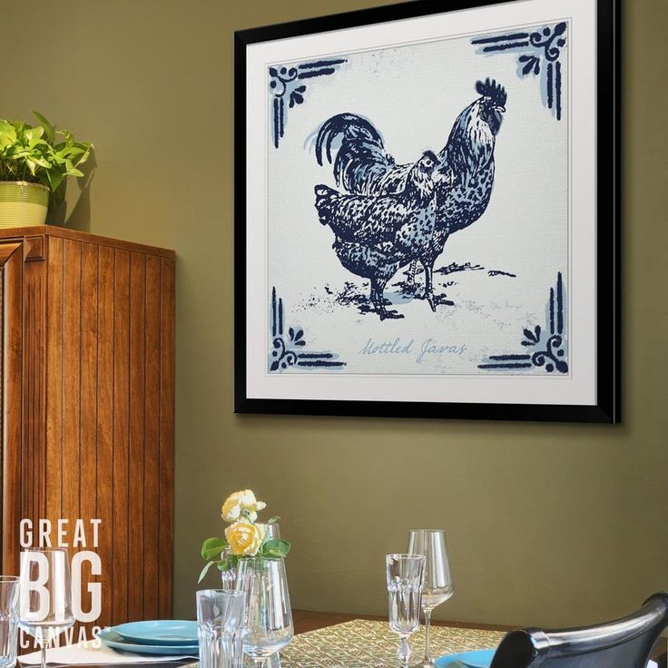 """Emerging Artist Peter Horjus loves to incorporate rustic textures into his work. Purchase his framed print """"Mottled Java Chickens"""" at GreatBIGCanvas.com"""