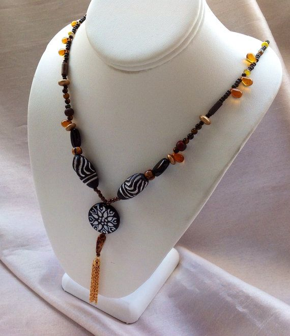 Tribal Necklace 14k& 18k Gold Filled Tassel and by JewelryByShari, $75.20