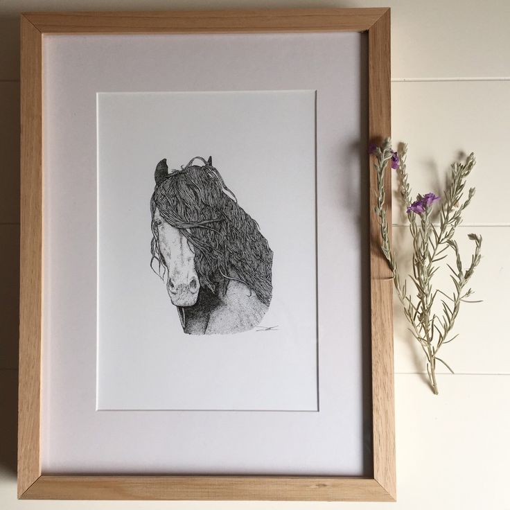 A personal favourite from my Etsy shop https://www.etsy.com/listing/218408994/harrison-the-horse-dots-only