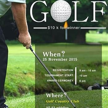 The 10 Best Awesome Golf Tournament Flyer Design Images On Pinterest