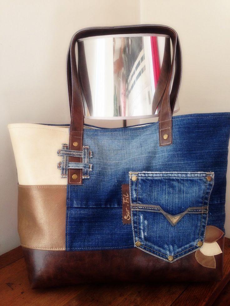 sac le Carry en jean et simili : Sacs à main par sur-fil