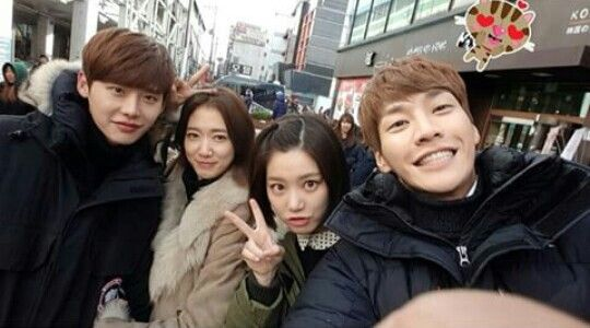 Lee Jong Suk, Park Shin Hye, Lee Yoo Bi and Kim Young Kwang