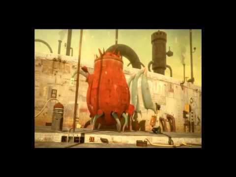 This is The Lost Thing - Part 1 - You'll be able to find parts 2 and 3 on You tube too.     Tim Minchin's voice over is so full of pathos. It's really beautiful and there's such a lot that can be explored and using Part 1 on its own is a great story starter.     And of course the language and animation are so beautifully captivating.