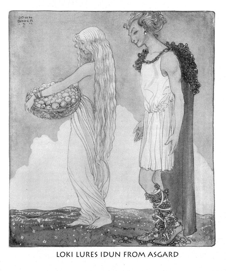 John Bauer's Die Göttersage der Väter Illustrations