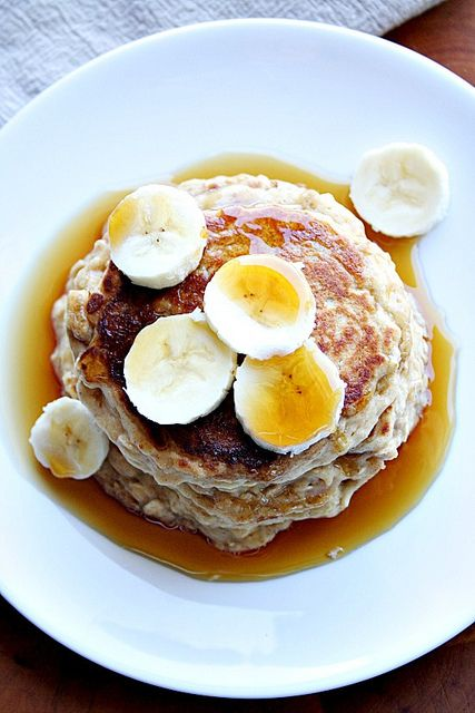 oatmeal peanut butter pancakes by Heather's French Press, via Flickr