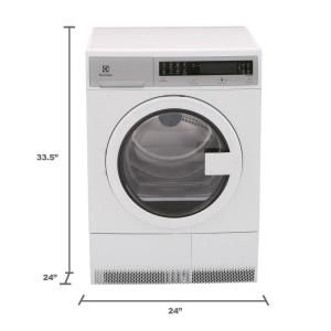 Electrolux IQ-Touch 24 in. 4.0 cu. ft. Electric Dryer in White EIED200QSW at The Home Depot - Mobile