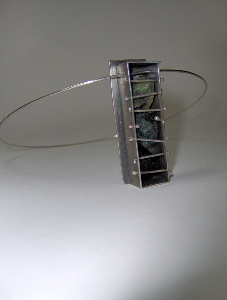 Necklace | Julieta Odio Bernardi. Sterling silver and rough emeralds.
