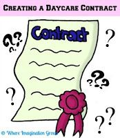 Tips and information about creating a daycare contract for your in home childcare from an experienced provider.