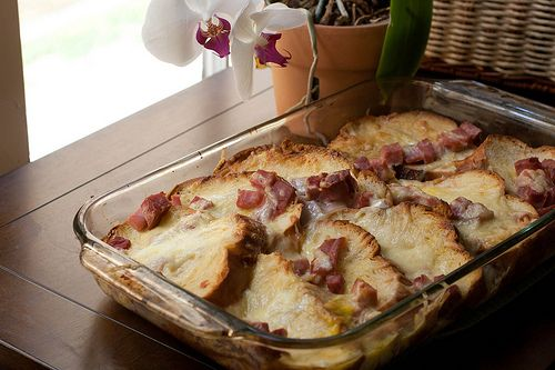 Savory Baked French Toast Croque Monsieur (with Ham and Cheese) - Savour Fare