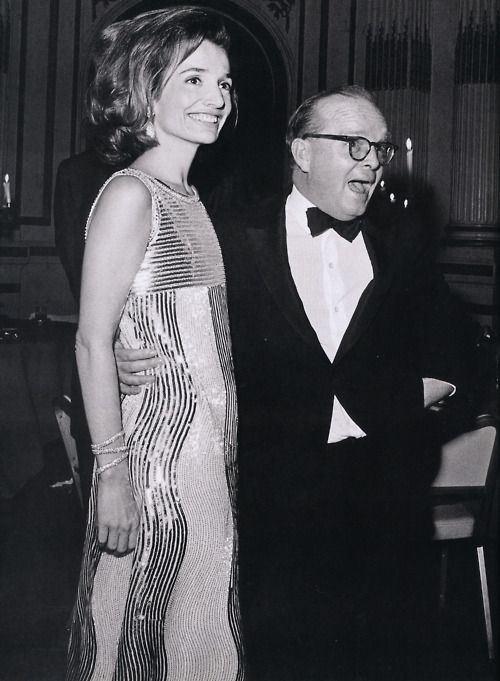 Lee Radziwill and Truman Capote at  Capote's Black and White Ball, 1966