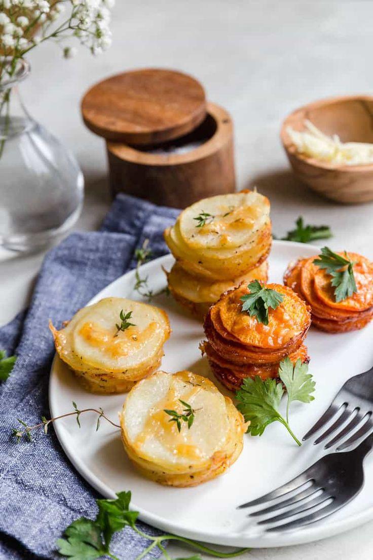 Sweet Potato Stacks and Yukon Gold Potato Stacks o…